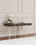Aristar Acrylic and Wood Writing Desk