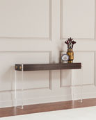 Aristar Acrylic and Wood Console Table
