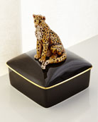 Leopard Porcelain Box