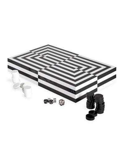 Optical Illusion Art Backgammon Set
