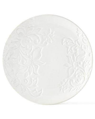 Etched Floral Plates, Set of 2