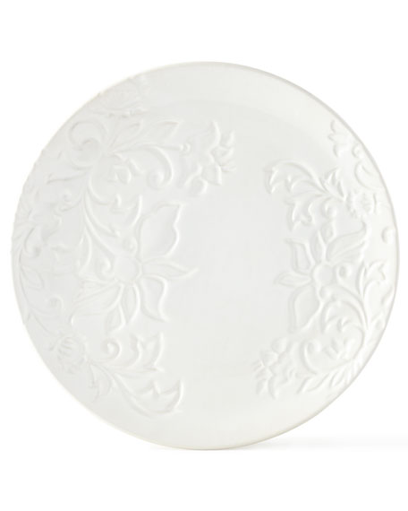 G G Collection Etched Floral Plates, Set of 2