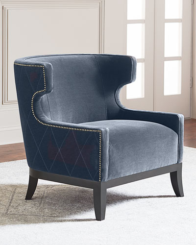 Lennox Diamond Tufted Accent Chair
