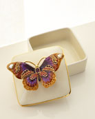 Jay Strongwater Butterfly Porcelain Box