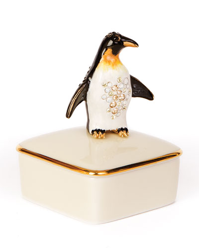 Penguin Porcelain Box