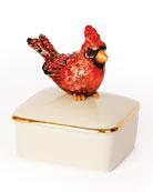 Jay Strongwater Cardinal Porcelain Box