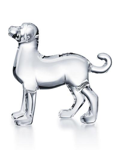 Zodiac Dog Figurine, Clear