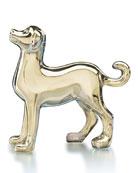 Zodiac Crystal Dog Figurine, Gold
