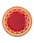 Neiman Marcus Red Oro Bello Dinner Plate, Set
