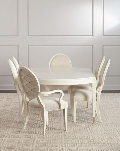 Pair of Gabi Lattice-Back Side Chairs