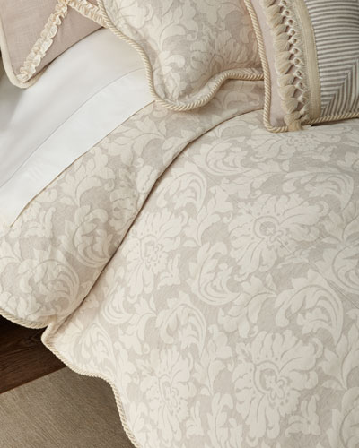 Paloma Damask King Duvet Cover