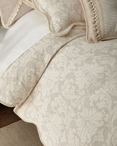 Paloma Damask Queen Duvet Cover