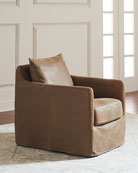 Amanze Leather Swivel Chair