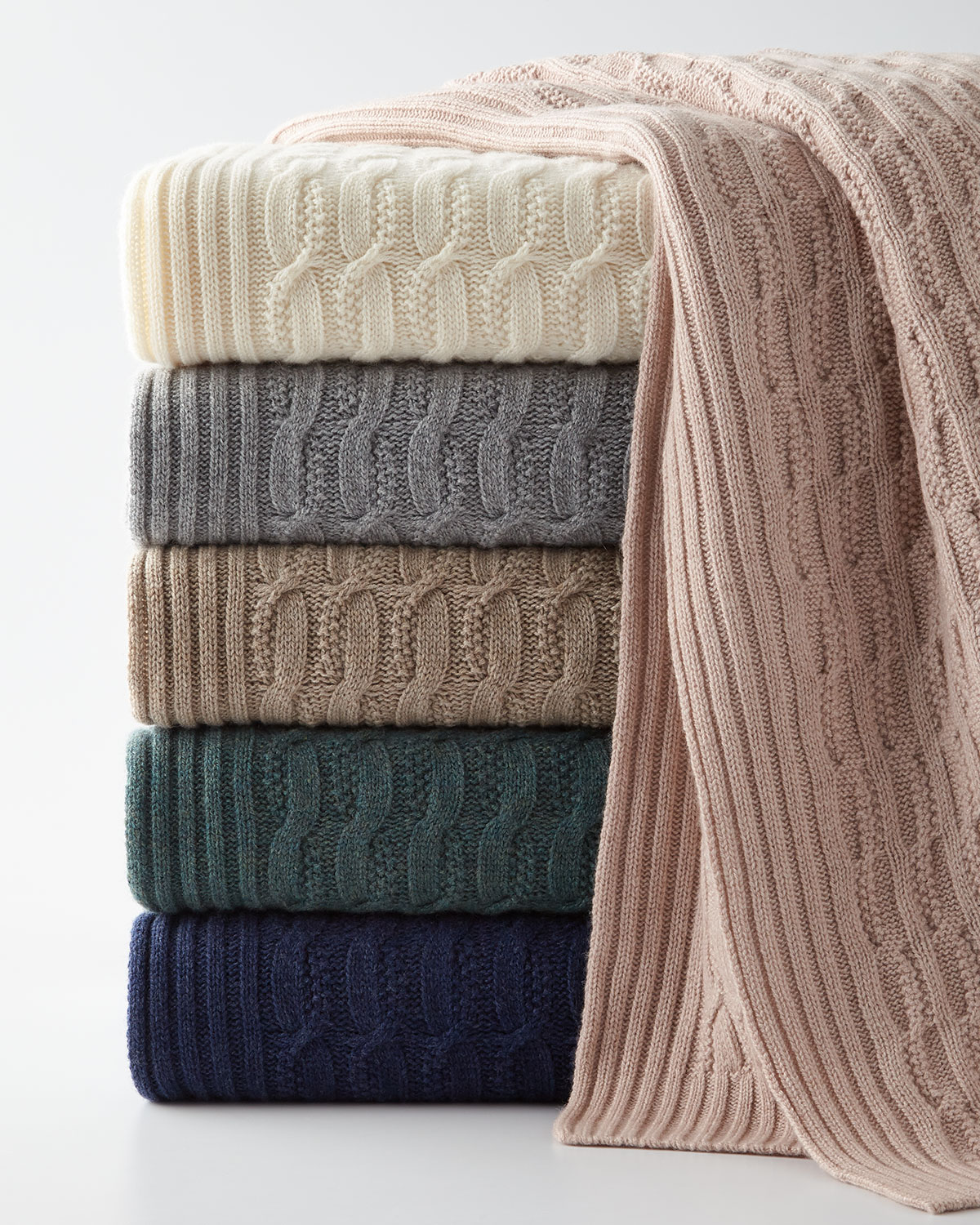 Sofia Cashmere Seed - Stitch Cable Throw