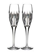 Mara Crystal Champagne Flutes, Set of Two