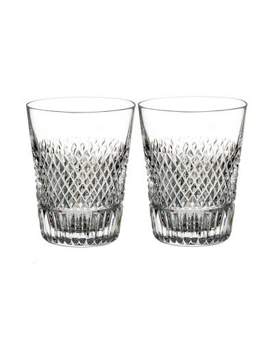 Diamond Line Shot Glasses, Set of Two