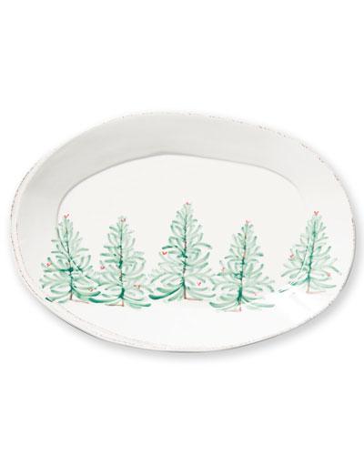 Lastra Holiday Oval Platter