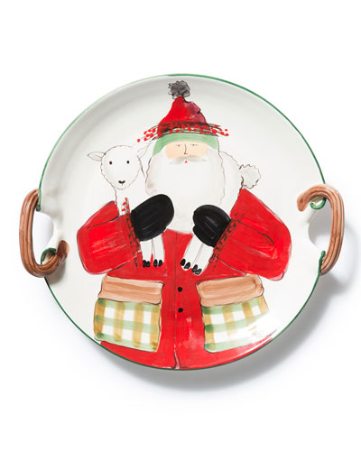 Limited Edition Old Saint Nick Round Platter