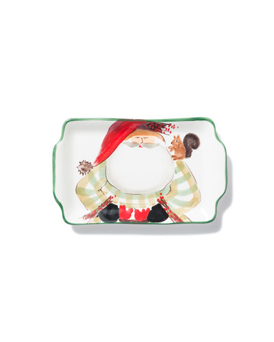 Limited Edition Old Saint Nick Rectangular Plate