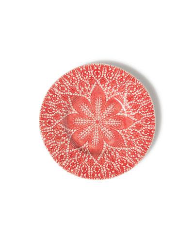 Viva Red Lace Salad Plate
