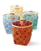 Faceted Double Old-Fashioneds, Set of 4