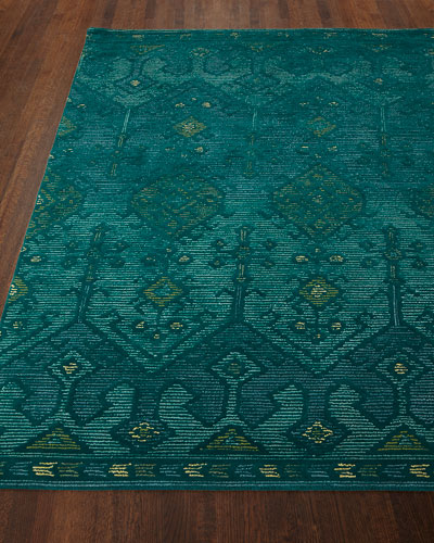 Gem Hand-Tufted Rug, Teal, 5' x 7'6