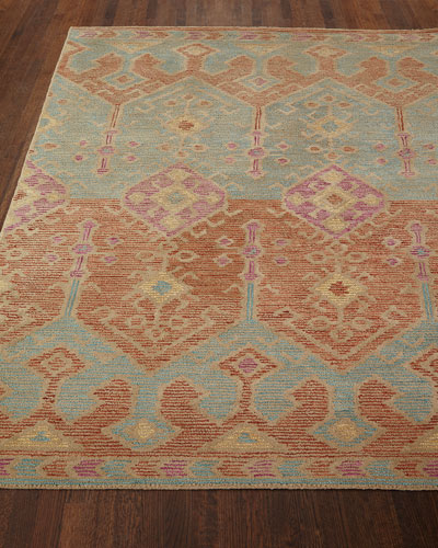 Gem Hand-Tufted Rug, Spice Teal, 5' x 7'6