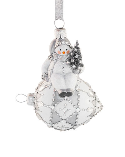 Frostily Snowman Sitting Ornament