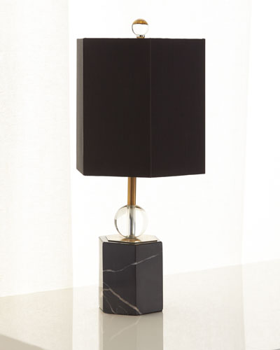 Marchesa Marble Hex Accent Lamp, 18.5