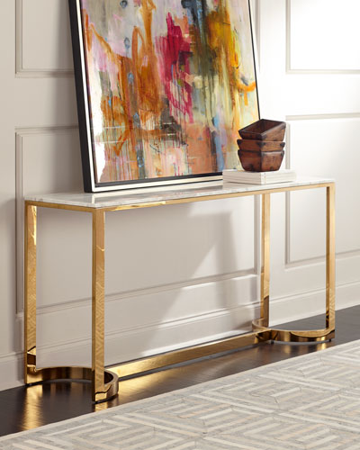 Marquis Marble Console Table