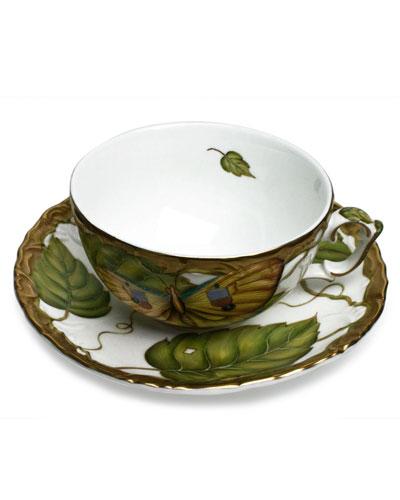 Exotic Butterflies Teacup and Saucer Set
