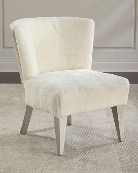 Massoud Paulette Shearling Accent Chair