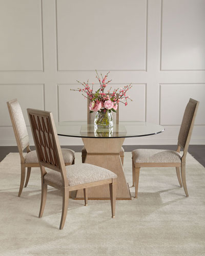 Sparrow Round Glass-Top Dining Table