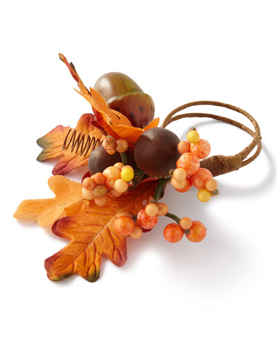 Fall Acorn Napkin Rings, Set of 4