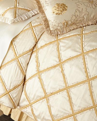 Ruffled Diamond King Duvet Cover