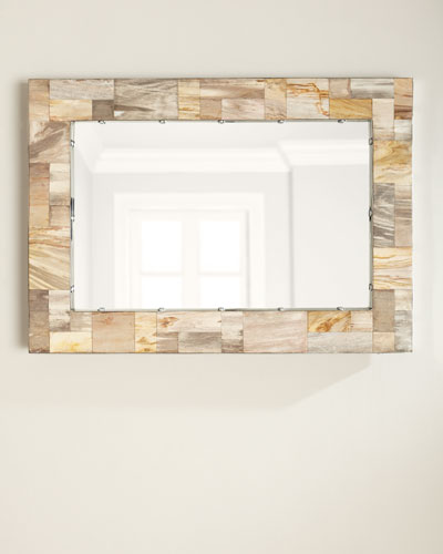 Maxwell Petrified Wood Mirror