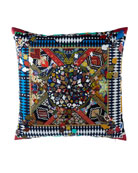 "Mystere Arlequin Pillow, 24""Sq."