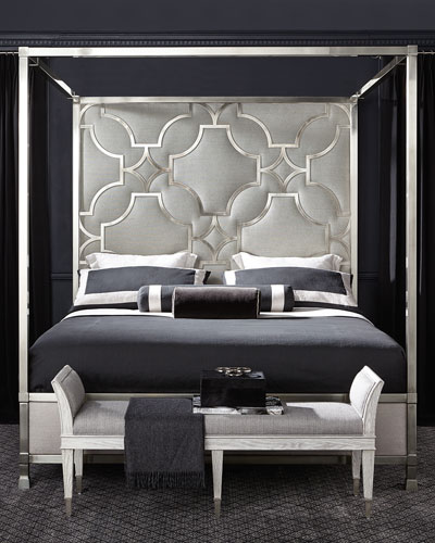 Domaine Blanc Stainless King Canopy Bed