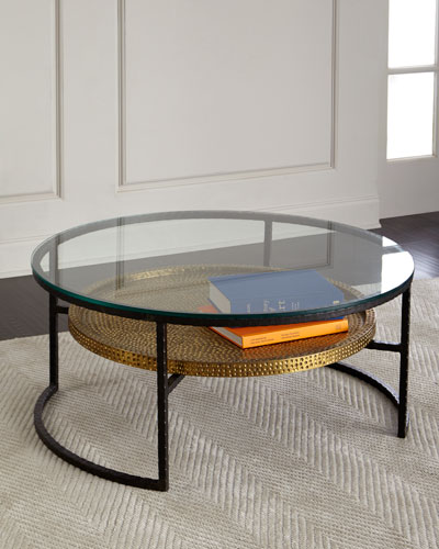 Gold Metal Coffee Table Neiman Marcus