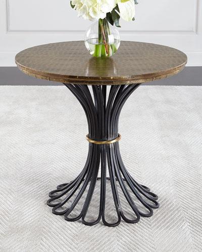 Alber Antiqued Side Table