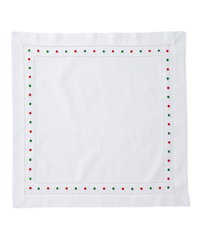 Holiday Dots Dinner Napkins, Set of 4