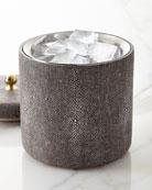 Faux-Shagreen Ice Bucket, Chocolate