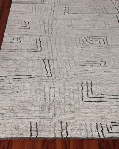 Balon Hand-Knotted Rug, 6' x 9'