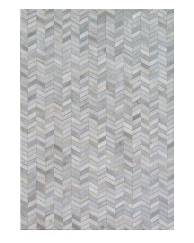 Azaran Hairhide Hand-Stitched Rug, 5' x 8'