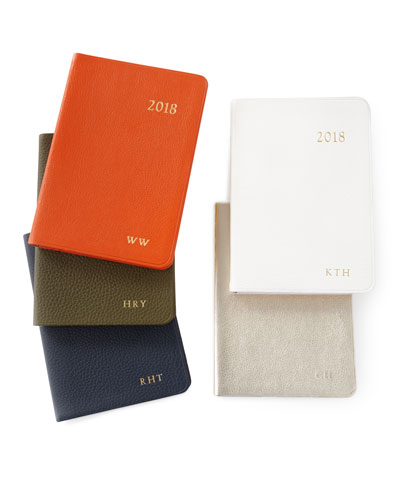 2018 Leather Daily Journal, Personalized