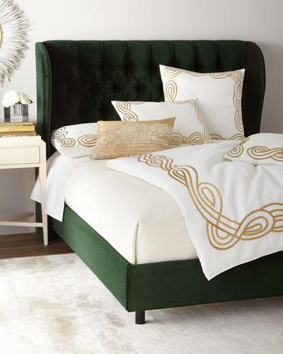 Santorini Tufted Wingback King Bed