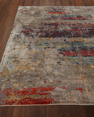 Titus Hand Knotted Rug, 6' x 9'