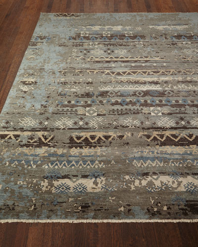 Denley River Hand-Knotted Rug, 4' x 6'