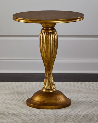 Golden Fluted Side Table