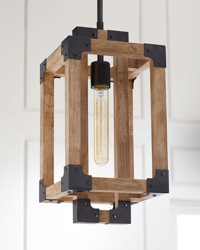 Wooden Mini Pendant Light
